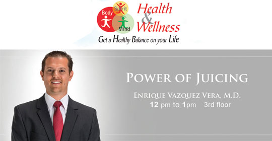 Come see Dr. Vazquez-Vera speak at the 4th annual Health and Wellness Expo